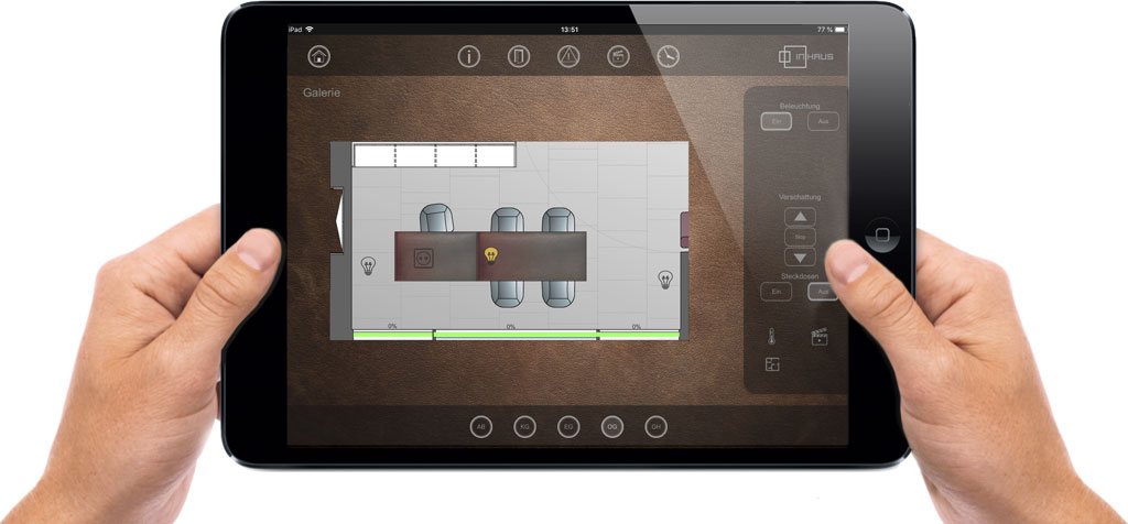 Luxus, Design, Visualisierung iPad, Smart Home, Smart Home Visualisierung